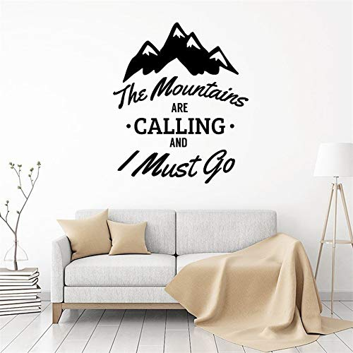 autocollant mural stickers muraux chambre The Mountains Are Calling And I Must Go For Nursery Children Bedroom Playroom Home Art Decor Poster for nursery kids room