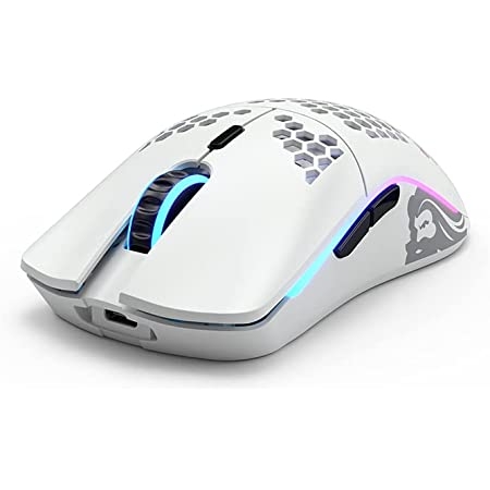 Glorious ワイヤレスゲーミングマウス Model O Wireless MatteWhite 超軽量69グラム BAMFセンサー搭載 ハニカムデザイン 右利き用 1年保証 【国内正規品】
