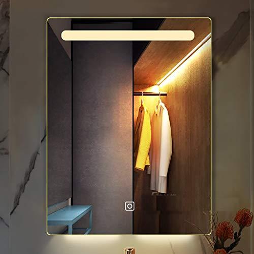 Horizontale/verticale led-badkamerspiegel grote, van achteren verlichte wand-make-up spiegel met heldere wastafel en anti-condens – perfect voor thuisgebruik of hotels.