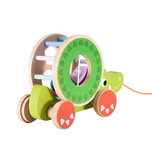 Review Of Cigou Wooden Shape Pull Toy - Wooden Puzzle Educational Toy Toddler Learning Toy Gift