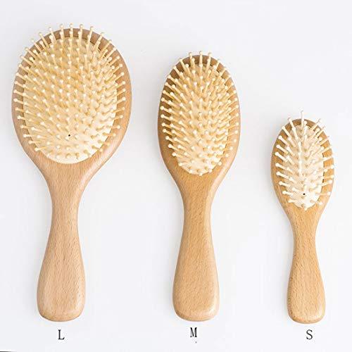(cercle) peigne en bois peigne antistatique brosse saine cheveux brosse en bambou Cisailles et ciseaux (Color : Comb, Size : M)