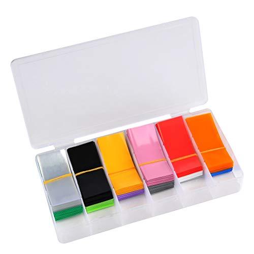 TIMESETL 300 pezzi Guaina Termorestringente Tubi 72 mm x 30 mm, PVC Flat Wrap Kit Tubi Termorestringenti Rapporto 2: 1 per batteria 18650 18500 18530 - 12 colori