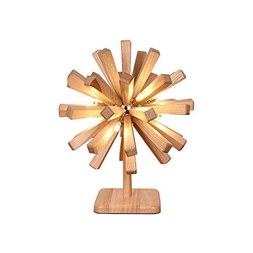 Lampe de table Desk Lamps Woody Explode La Boule Forme Bureau Salon Bar Décoration Table Lampe 40W 220V LED