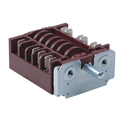 Black 360 GRITY Rotary Calentador eléctrico Perilla Interruptor de la perilla 20A 16A 250V Interruptor de engranajes Multi Range Suprector de horno RT345-1A ( Color : Black , Size : Oven switch )