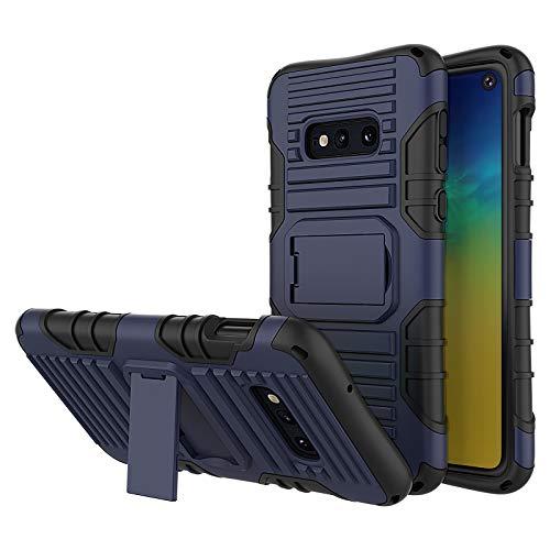 JammyLizarD Outdoor Hülle kompatibel mit Samsung Galaxy S10e Schutzhülle mit Handyband [Taurus] Doppelschutz Hardcase Silikon TPU Skin, Dunkelblau