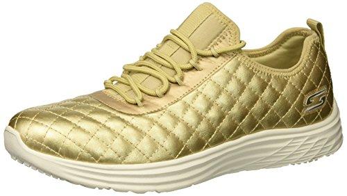Skechers Bobs Swift-Social Hustle, Zapatillas para Mujer, Dorado (Gold), 38 EU