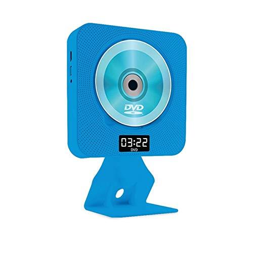 Adesign Player DVD/CD portátil, Altavoces HiFi incorporados HDMI con Control Remoto para TV, Reproductor de música, Reproductor de CD de Aprendizaje en inglés de Bluetooth (Color : Blue)