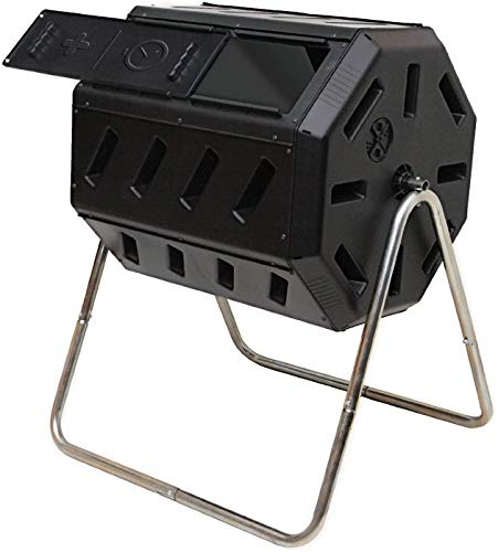 Great Features Of NewElegant Compost Bin Outdoor 37 Gallon Outdoor Tumbling Composter Outdoor Compos...
