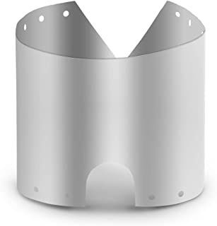 Docooler Camp Stove Windshield Ultra-Thin Titanium Wind Shield Screen Windproof Plate 15/19cm(Optional)