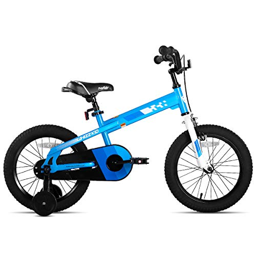 JOYSTAR 18 Inch Kids Bike with Training Wheels for Ages 6 7 8 9 Years Old Boys and Girls Children Bicycle with Handbrake for Early Rider Blue