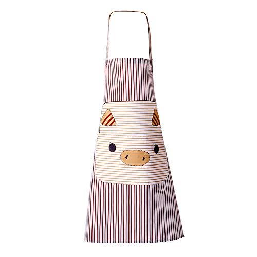 Da.Wa 1 STK Comic Ferkel Tier Schürze für Männer und Frauen Kunsthandwerk Schürze Kochschürze Garten BBQ Schürzen Bastelschürze Kaffee