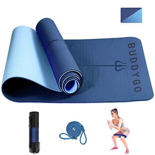 BUDDYGO Yoga Mat, Non Slip Exercise Yoga Mat, Core Balance Yoga Mat, TPE...