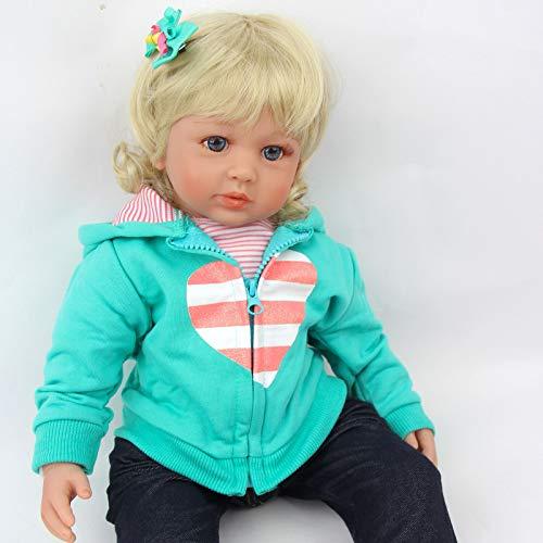 ZIYIUI Realista Muñecas Reborn Bebé 24 Pulgadas 60cm Vinilo de Silicona Suave Bebe Reborn Niña Reales Silicona Recién Nacido Recién Nacidos Bebe Reborn Dolls Juguetes