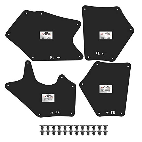 A-Premium Splash Guards Fender Liner Shields Compatible with Toyota Tundra Sequoia 2007-2020 Front and Rear 4-PC Set