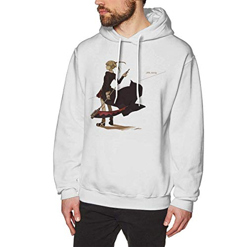 HTETRERW Cool Anime Soul Eater Maka Albarn Men's Long Sleeved Pullover Sweatshirts Hoodies S