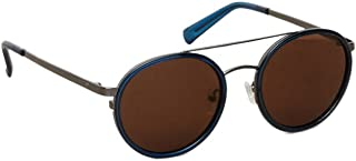 Kenneth Cole KC7204 Sunglasses - Shiny Blue Frame, Gradient Brown Lenses, 52 mm Lens KC72045290F