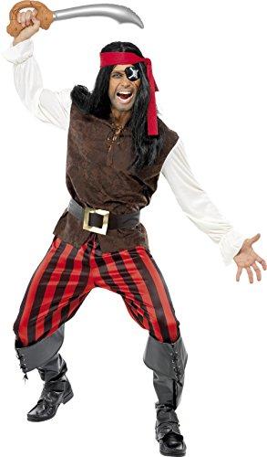Disfraz de pirata completo para hombre.