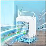 KIMILAR Mini Mobile Klimaanlage, Klimageräte Mobil Luftkühler USB Ventilator Leise Tragbare Nebelventilator Kleine Luftbefeuchter Verdunstungskühler Air Cooler für Zimmer (Blau)