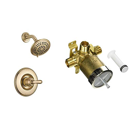Best Review Of Delta Faucet Linden 14 Series Single-Function Shower Trim Kit with 5-Spray Touch-Clea...