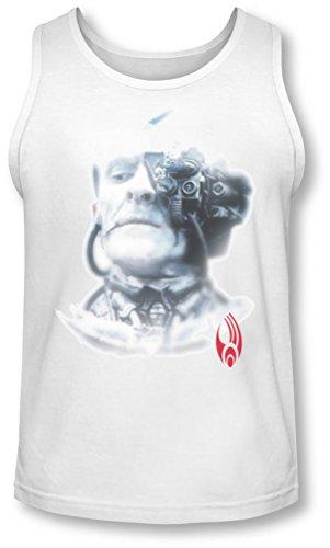 Star Trek - Hombres Borg Head Tank-Top, X-Large, White