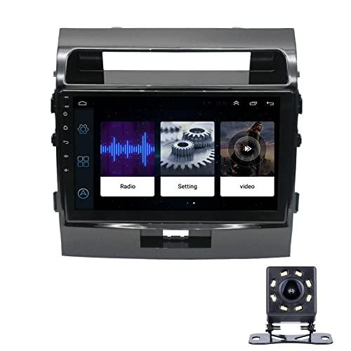 Radio Coche para Toyota Land Cruiser 2016-2019 9 Pulgadas Conexión Android, Bluetooth Reproductor para Coche,con Mirrorlink, Pantalla Táctil, Radio FM/USB, con Camara Trasera,2+32G