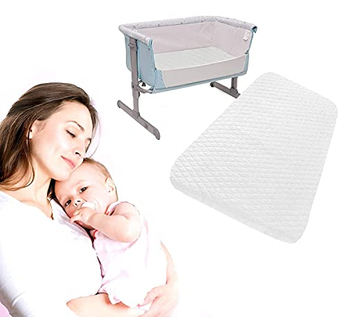 Iwil dream Next2Me Chicco Crib Mattress (83 x 50 x 5 cm) Compatible Bedside Toddler Deluxe Crib Next to Me - Comfortable & Fitted Infant Mattress - Breathable & Washable