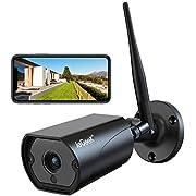 ieGeek Überwachungskamera Aussen, WLAN IP Kamera 1080P WiFi Kamera mit 5dBi WiFi Antenne, Zweiwege-Audio, PIR Bewegungserkennung, Infrarot Nachtsicht 30m, Fernzugriff