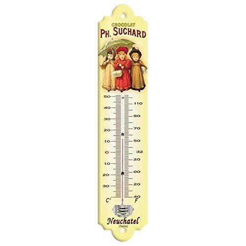 Editions Clouet 57064 - Thermomètre 30x8 cm Chocolat Suchard - Trois Enfants