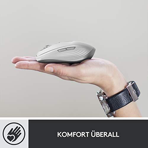 Logitech MX Anywhere 3 kompakte, leistungsstarke Maus – Kabellos, Magnetisches Scrollen, ergonomisch, anpassbare Tasten, USB-C, Bluetooth, Apple Mac, iPad, Windows PC, Linux, Chrome - Grafit - 4