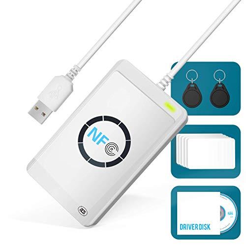 NIERBO Lettore NFC Scrittore Lettore di Smart Card NFC ACR122U...