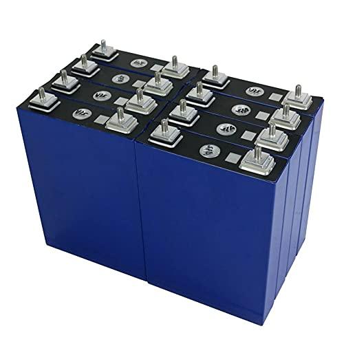 OANCO Nuevo Paquete De Batería Lifepo4 De 8/16 Piezas 3,2V 100Ah + Pieza De Conexión,Celda De Fosfato De Hierro De Litio De 24V/48V 100AH Solar UE Libre De Impuestos (Color : 8PCS 24V 100AH)