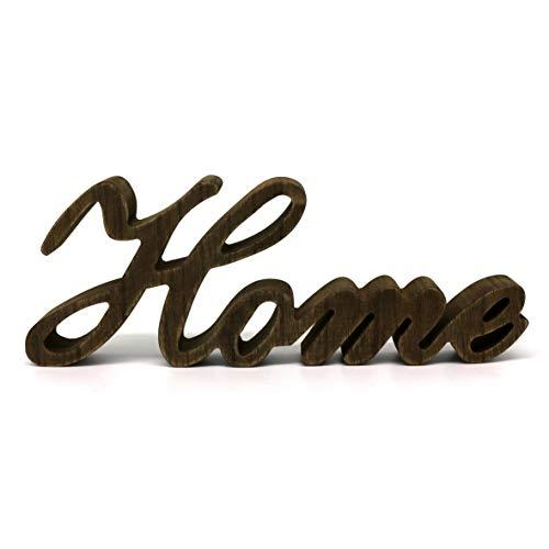Rústico Vintage Apenado Palabras de Madera Signo Independiente Home Mesa/Estante/Pared del hogar/Arte de decoración de Oficina, 29,9 x 10,8 x 2,5 cm
