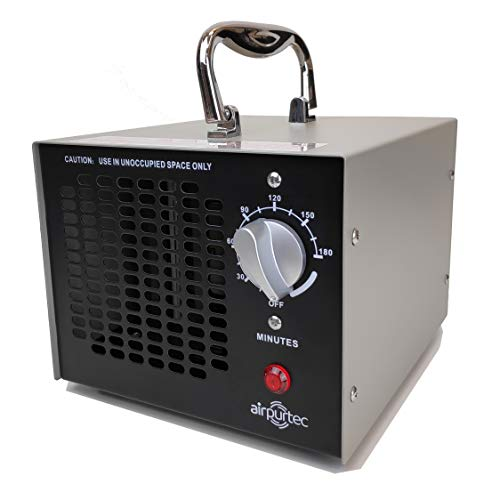Airpurtec OX4G   Potente Generador de Ozono con 4.000 MG/h 96m²   Temporizador 180min   Desinfecta Hogar Oficinas Coches   Purificador de Aire   Desodorizador