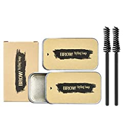 【Natural and Full】The eyebrows Soap is a clear setting product that when brushed through the natural eyebrow adds thickness, volume and texture. Beachy Brows also nourishes and conditions the Brows therefore promoting healthy hair growth. 3D eyebrow ...