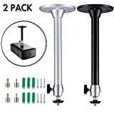 Yizerel 2 Pack Mini Ceiling Projector Mount Set, Adjustable Drop Ceiling Wall Projector
