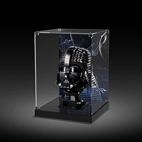 Gettesy Acryl Schaukasten Vitrine Kompatibel Mit Lego 75304 Star Wars Darth-Vader Helm, Schaukasten Staubdicht Showcase Display Case (Ohne Modell Kit)