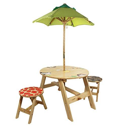 Fantasy Fields Outdoor Tisch mit zwei Stühlen Set, sunny Safari, TD-0030A, Braun