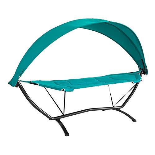 SoBuy OGS51-TB, Outdoor Garden Patio Hammock Swing Chair Sun Lounger with Sun Shade