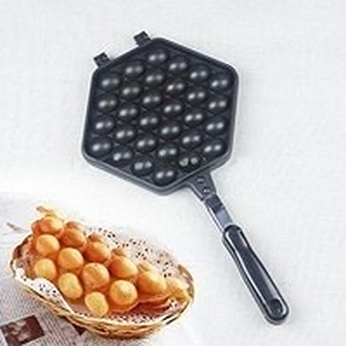 Best Prices! Uion Egg Waffle Pan,Non-Stick Grill Egg Cake Pan Egg Puff Waffle Maker Double Sided Iro...