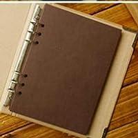 空白のカバールーズリーフアルバム簡潔なクラフト紙日記手-恋人の赤ちゃんの結婚式のためのペイントされた落書き日記フォトアルバム40ページ,デザインがかわいくお子様の成長記録にピッタリ,coffee paper