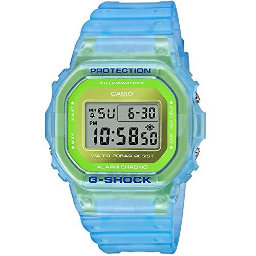 Casio G-Shock DW5600LS-2 Skeleton Series Blue & Green Metallic Dial Digital Watch