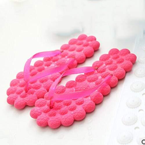 ZYMQ Pantuflas de verano para mujer, de masaje a pies, burbuja de burbujas, para el tiempo libre, baño, antideslizantes, sandalias de mujer y zapatillas de playa, rosa, talla 39