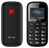 simvalley MOBILE Einfaches Handy: Dual-SIM-Komfort-Handy