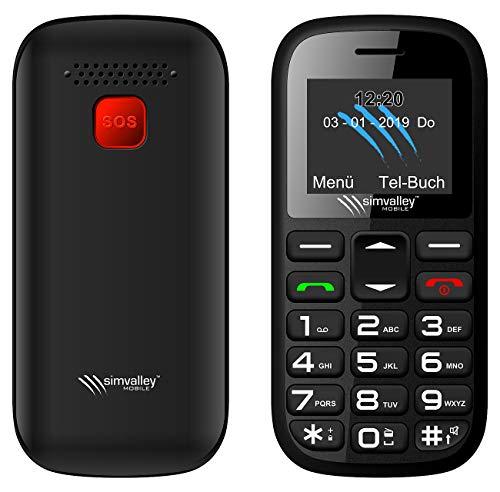 simvalley MOBILE Seniorenhandys: Dual-SIM-Komfort-Handy mit Garantruf Easy, Bluetooth und Taschenlampe (Großtastenhandy)