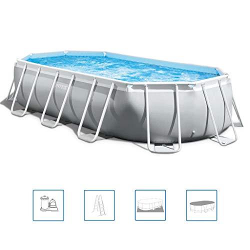 Intex Prism Oval 503 x 274 x 122 cm Frame Pool, Hellgrau