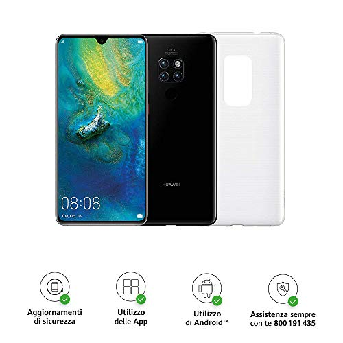 "Huawei Mate 20 (Black) più Cover Originale, Telefono con 128 GB, Display 6.53"" Full HD+, Processore Octa Core dinamico con Intelligenza Artificiale"