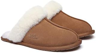 EVER UGG Slippers,Australia Premium Sheepskin,Unisex Rosa Scuff #15636