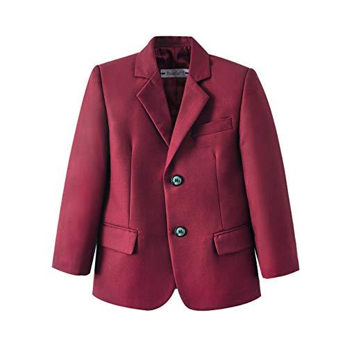 Boys Blazer Jacket for Kids Suits Coat Formal Dresswear Burgundy Size 2T