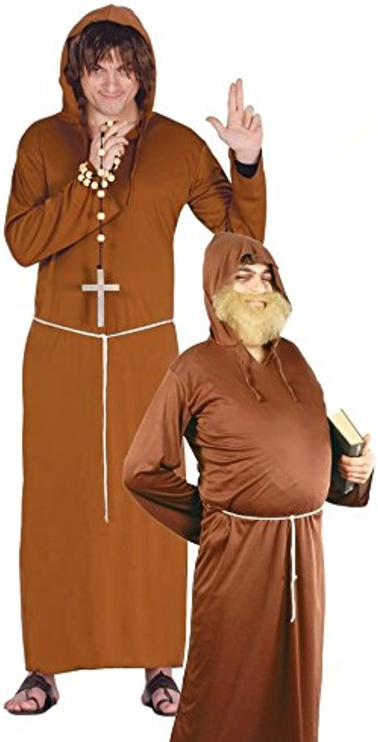 Mens Friar Monk Friar Tuck Religious TV Film Medieval Fancy Dress Costume Outfit Large (Large)