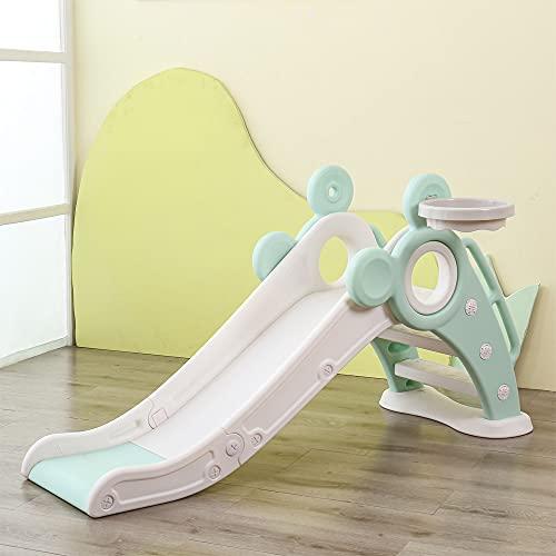 Kinder rutsche Outdoor Waterslide faltbar Gartenrutsche für Spielhaus Spielturm Pool Kleinkinderrutsche für 1-3 Jahre Indoor Fun-Slide (Grün)